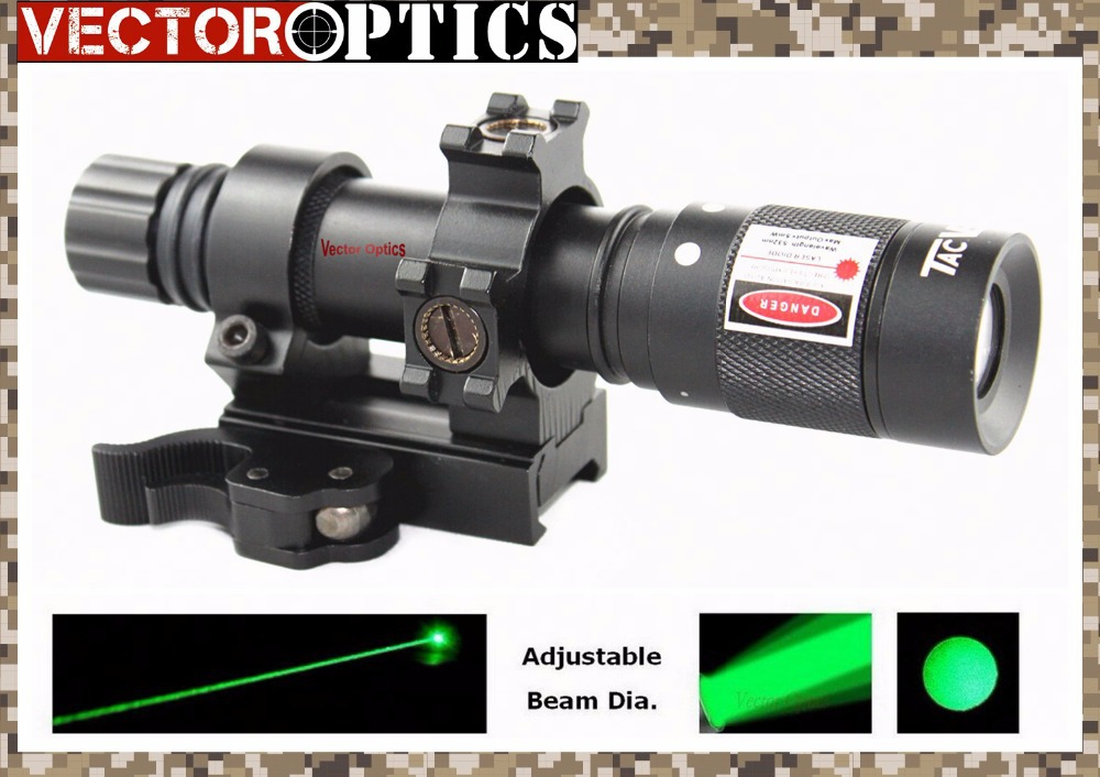 Multi 4 RETICLE Adjustable Green Laser Flashlight Designator Rifle Illuminator