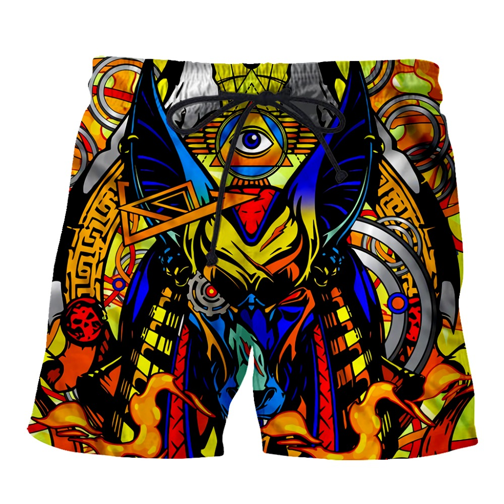 YX Girl 2018 New Fashion Men 3d printed Casual shorts Anubis Short Mens Summer Cool Trousers Dropshipping