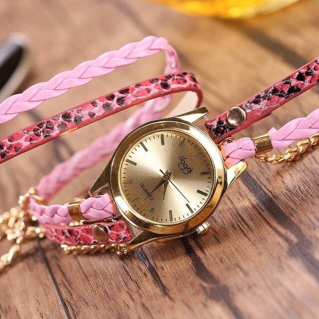 שעון קוורץ לאישה עם צמידים אופנתיים 3