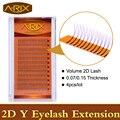 4 pcs Volume de Extensão Dos Cílios Y 2D 0.07 0.15 Super Macio Mink Falso Cabelo Ferramentas Profissionais da Composição Da Coréia