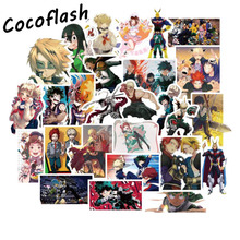 100 Pcs My Hero Academy Cartoon Pvc Comic Sticker For Motorcycle Laptop Phone Guitar Cool Notebook Car Wall Stickers Waterproof
