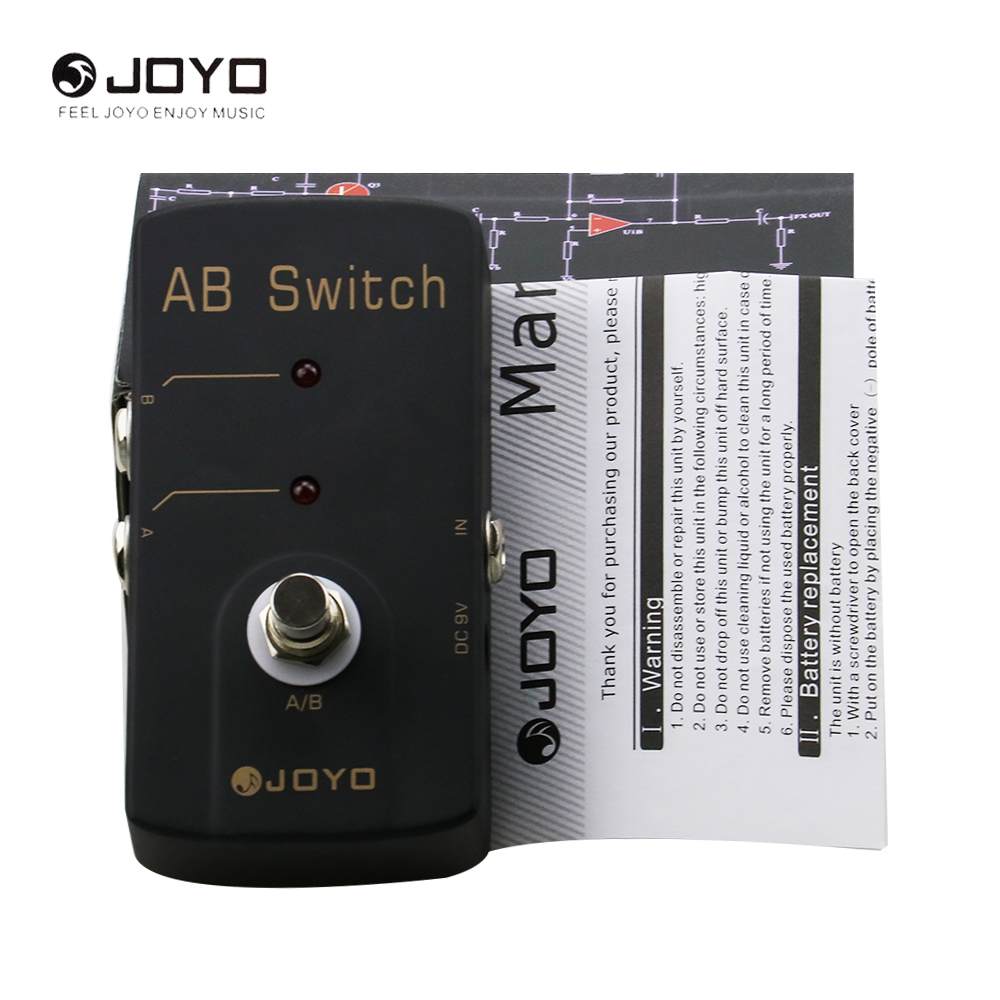JOYO JF-30 AB Switch Electric Guitar Effect Pedal Box True Bypass Guitar Part& Musical Instrument aroma adr 3 dumbler amp simulator guitar effect pedal mini single pedals with true bypass aluminium alloy guitar accessories