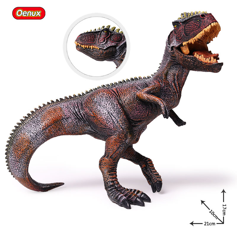 Oenux Jurassic Carnivorous Dinosaur Giganotosaurus Mouth Can Open Model Brinquedo Jurassic Dinosaurio Action Figures Toy For Boy 37 cm tyrannosaurus rex with platform dinosaur mouth can open and close classic toys for boys animal model without retail box