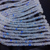 loose beads white A moonstone roundel faceted 4 5*2mm 14 for DIY jewelry making FPPJ wholesale beads nature gem stone