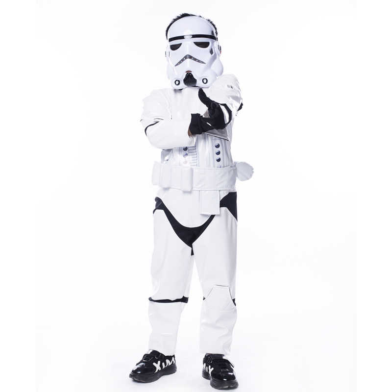 Nieuwe Kind Jongen Deluxe Star Wars De Kracht Wekt Storm Troopers Cosplay Fancy Dress Kids Halloween Carnaval Party Kostuum