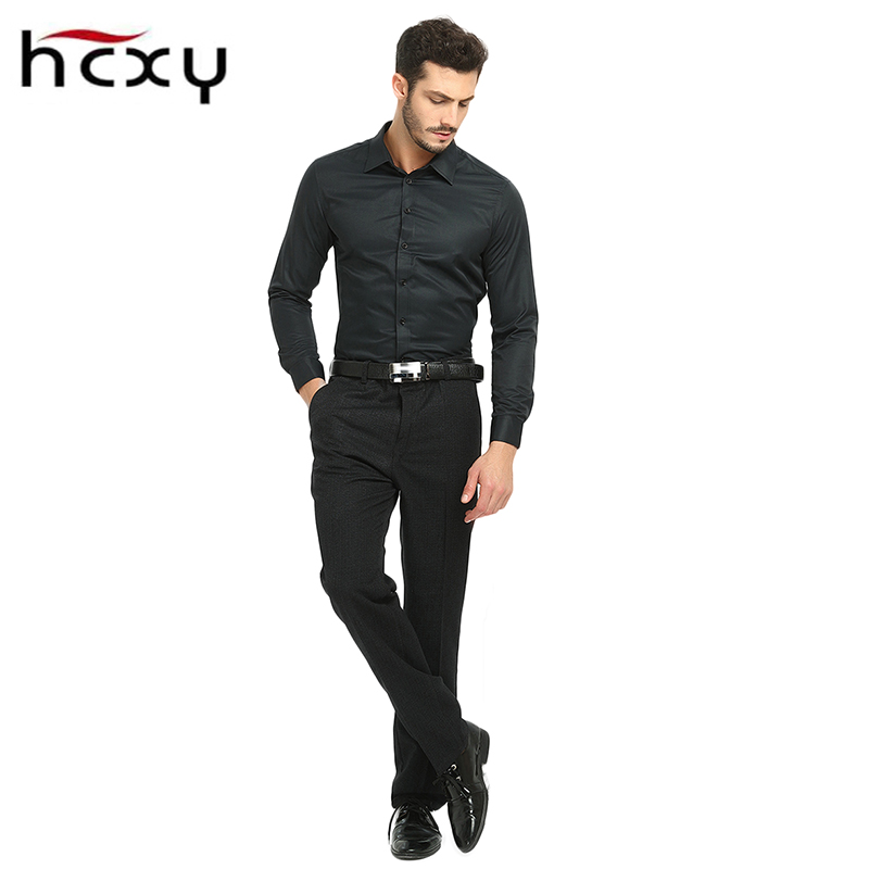 HCXY2017New High Quality Men Casual pants winter Male Classic Business Casual Trousers Mens black Work clothes Large size 40