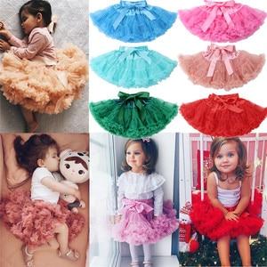 Пышная балетная юбка-пачка для маленьких девочек, пышная многослойная юбка-пачка, вечерние юбки для танцев, PUDCOCO, одежда для детей ясельного ...