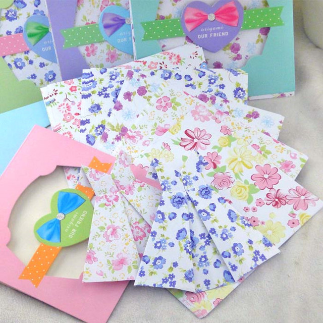 Floral Pattern Paper Craft Kids Origami Scrapbooking Decoration Background Handmake DIY Color Gifts Crafts Creative