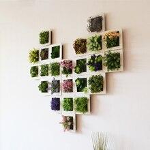 3D Искусственные суккуленты расположение поддельные растения стены фоторамка для домашнего декора