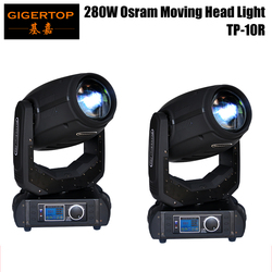 Freeshipping 2 Pack 10R Shapry Beam Moving Head Light Beam+Spot 2in1 Static Gobo/Rotate Gobo Effect Wheel mechanical dimming