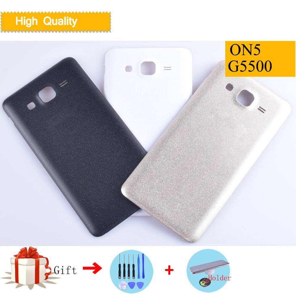 for Samsung G900 Galaxy S5 OEM Rear with Waterproof Gasket with Glue Card White Housing