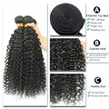 7A Kinky Curly Virgin Hair Raw Indian Virgin Hair Kinky Curly Weave 3 Bundles Indian Curly Virgin Hair Human Hair Weave Bundles