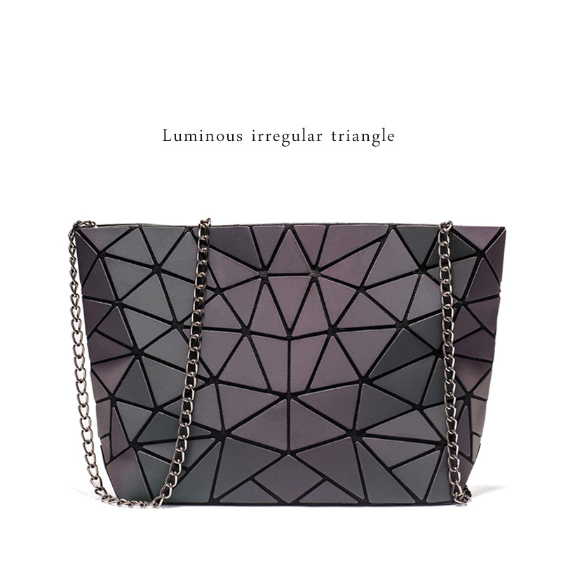 DIOMO Messenger Bag Women's Chain Bag 2019 Fashion Luminous Geometric Sling Bag Sac Femme Shoulder Strap Female Bolsas Feminina 1
