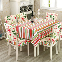 Ikea Style Simple Tea Table Pure Cotton Canvas Restaurant Supplies Upset Table Cloth
