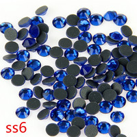SS6 Peacock Blue 1000 Gross Crystal Hot Fix Glass Rhinestones Loose Stones For Garment DIY Accessories