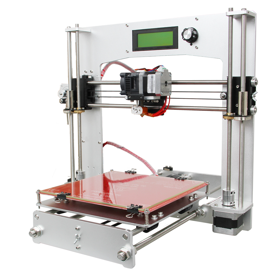 Geeetech All Aluminum 3D Printer DIY Kit High Precision Reprap Prusa i3 with Free LCD From Germany geeetech rumba 3d controller board atmega2560 for mentel reprap prusa 3d printer