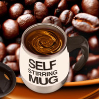 2016 New Automatic Plain Mixing Coffee Tea Cups Self Stirring Mug 450ML Fasion Mugs Gift For