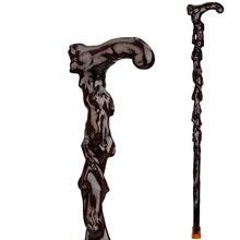 Старый резьба по дереву железная костыль над фу Груша палисандр тростниковый тростник ходунки пожилых