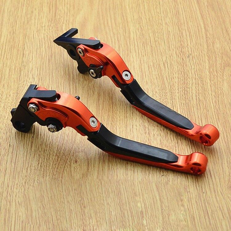 CNC moto réglable levier d'embrayage de frein télescopique étui pliant pour suzuki GW250 250 GSX250R GSX250 DL250 - 3