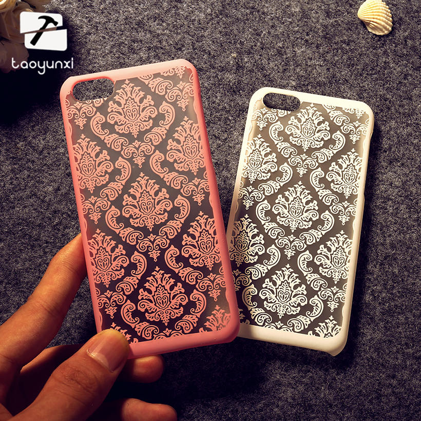 TAOYUNXI Mobile Phone Cases For Apple iPhone 6 6G iphone6S 6 Plus iPhone 6S Plus Cases Cover Flower Skin Bag Sheath Housing