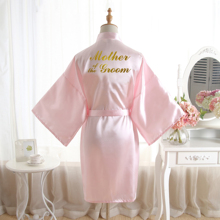 BZEL Mother of the Groom Gold Letters Robes For Wedding Soli