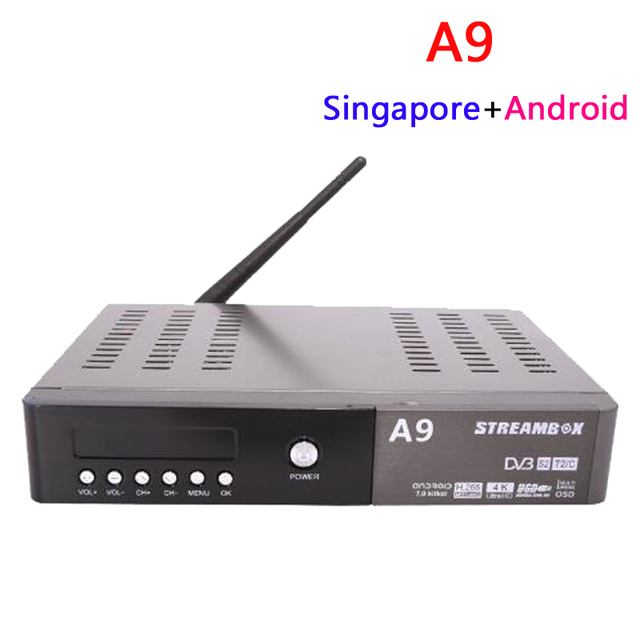 US $99 0 |Latest Streambox A9 Android tv box support PVR Singapore cable tv  set top box hd channels Watch football games-in Set-top Boxes from