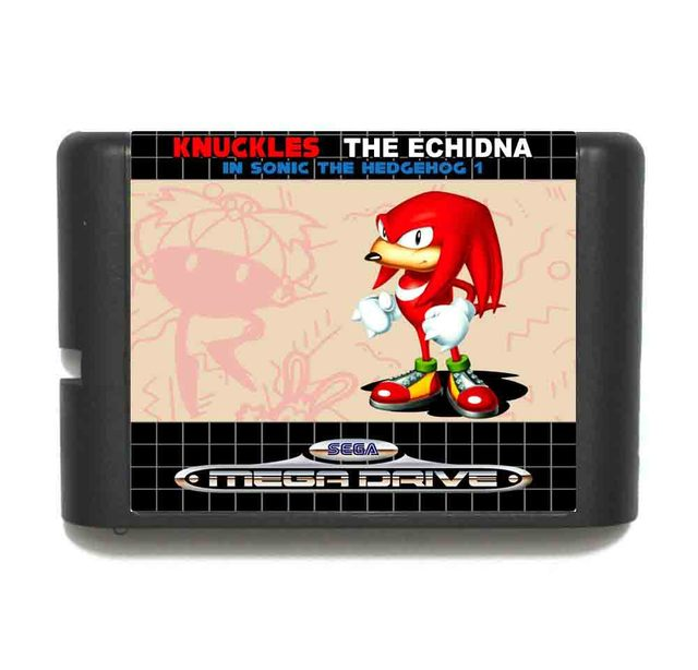 Knuckles The Echidna In Sonic The Hedgehog 1 - Retail Box - Sega Megadrive/Genesis 3