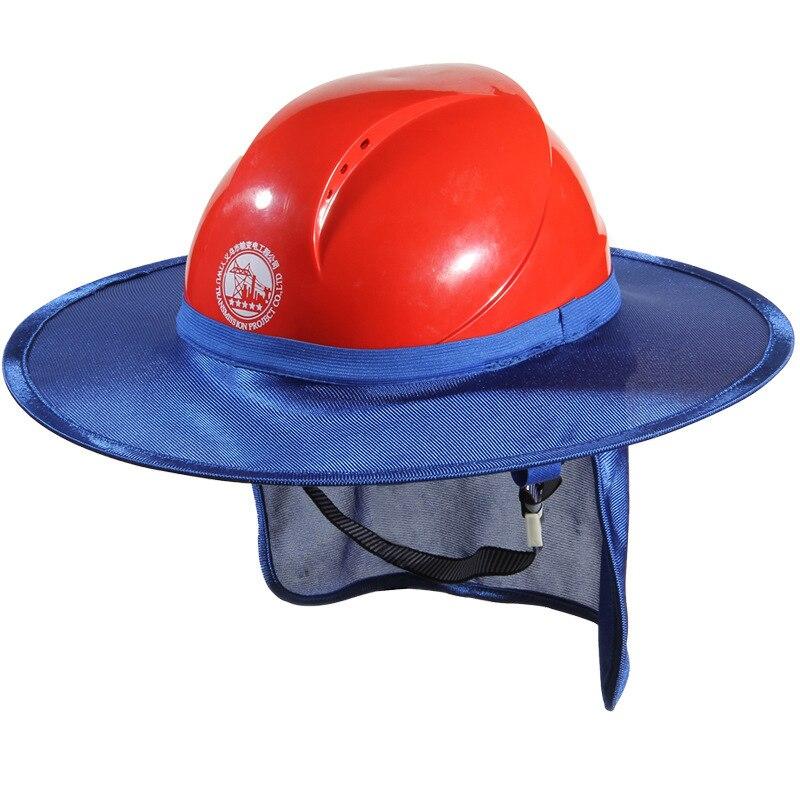 Korean Version Summer Construction Site Sunshade Cap Anti-ultraviolet Sunshade Gear Ventilation Safety Cap Sunshade
