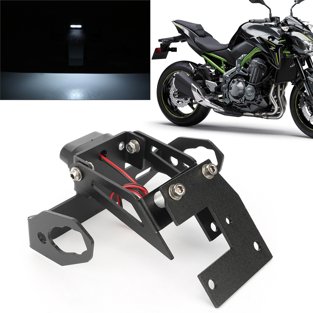 Motorcycle License Plate Taillight Holder for Kawasaki Z900 2017 2018 CNC Aluminum