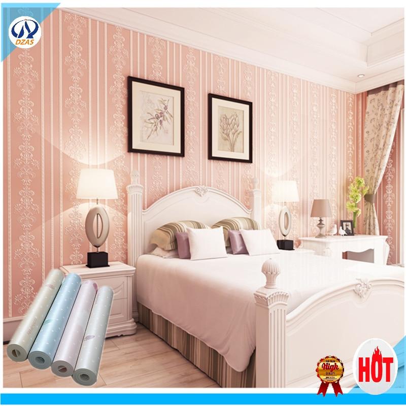 strip pattern bed room modern non woven wallpaper european bedroom 3d
