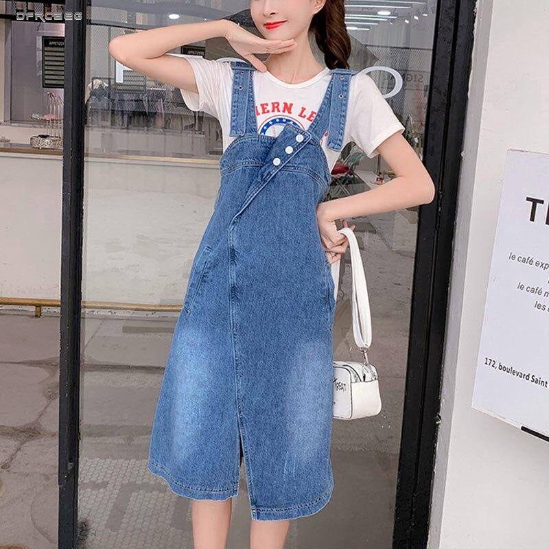 Été jarretelle Denim combinaison jupe femmes 2019 mode Streetwear irrégulière Jean sangle jupes sans manches BF Jeans Saias Femme