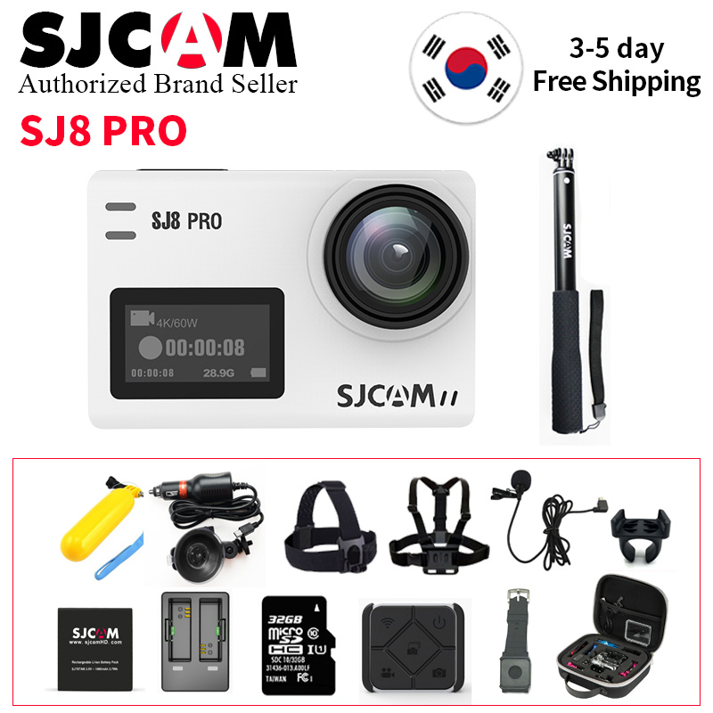 SJCAM SJ8 Pro caméra d'action 1296 P 4 K 30fps/60fps Sport DV télécommande caméra de casque Plus Accessoires (évantail complet Boîte)