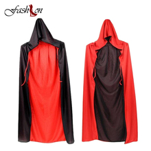 Halloween Decoration Costume Cloak Wizard Witch Cosplay Anime Clothes Hooded Fancy Cape Vampire Masquerade Double Wear Manteau