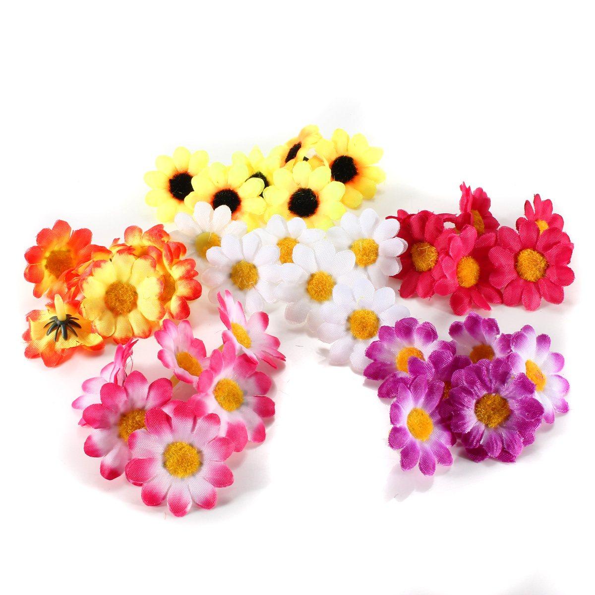 Online get cheap gerbera daisy silk flowers aliexpress 100pcs artificial gerbera daisy heads silk flowers wedding party sunflower decorchina mainland dhlflorist Gallery