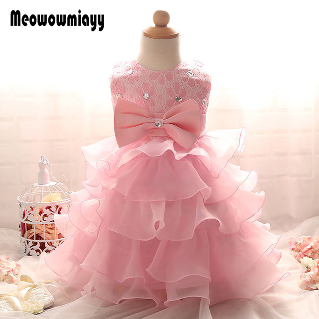 1 year birthday dresses 2017 baby girl clothes formal infant dresses ...