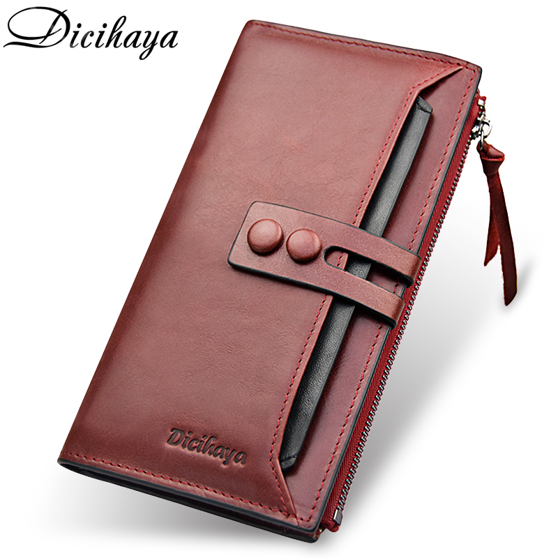 DICIHAYA Brand Wallet Women Genuine Leather Lady Purses High Quality Ladies Clutch Wallet Long Female Wallet Carteira Feminina