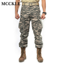 MCCKLE Spring SWAT Mens Camouflage Tactical Pants Multi-Pockets Military Digital Camo Pants 7 Color Q0262
