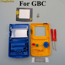 ChengHaoRan 1set Shell case Replacement For Gameboy Color GBC game console full housing for Pika chu Version
