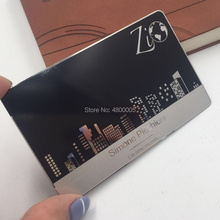 wholesale high-quality customized laser engraved matte black stainless steel metal business card