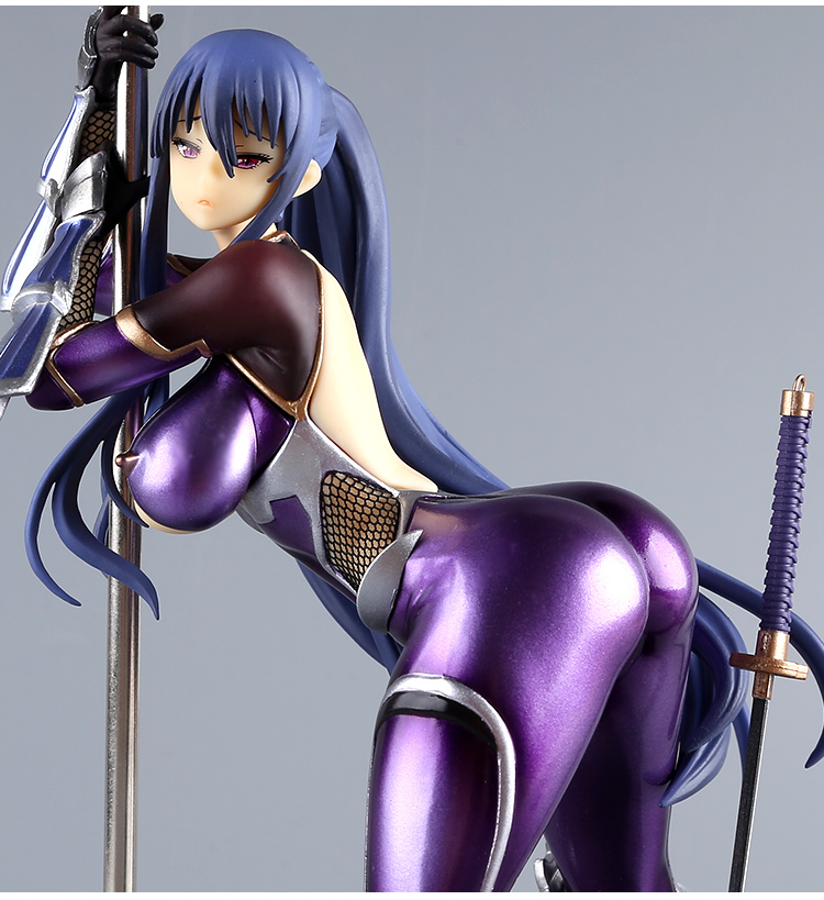 25cm Anime Queen Ted Taimanin Yukikaze 2: Rinko Akiyama PVC Sexy Steel pipe Clothes Removable Action Figure Model Toy Gift 2