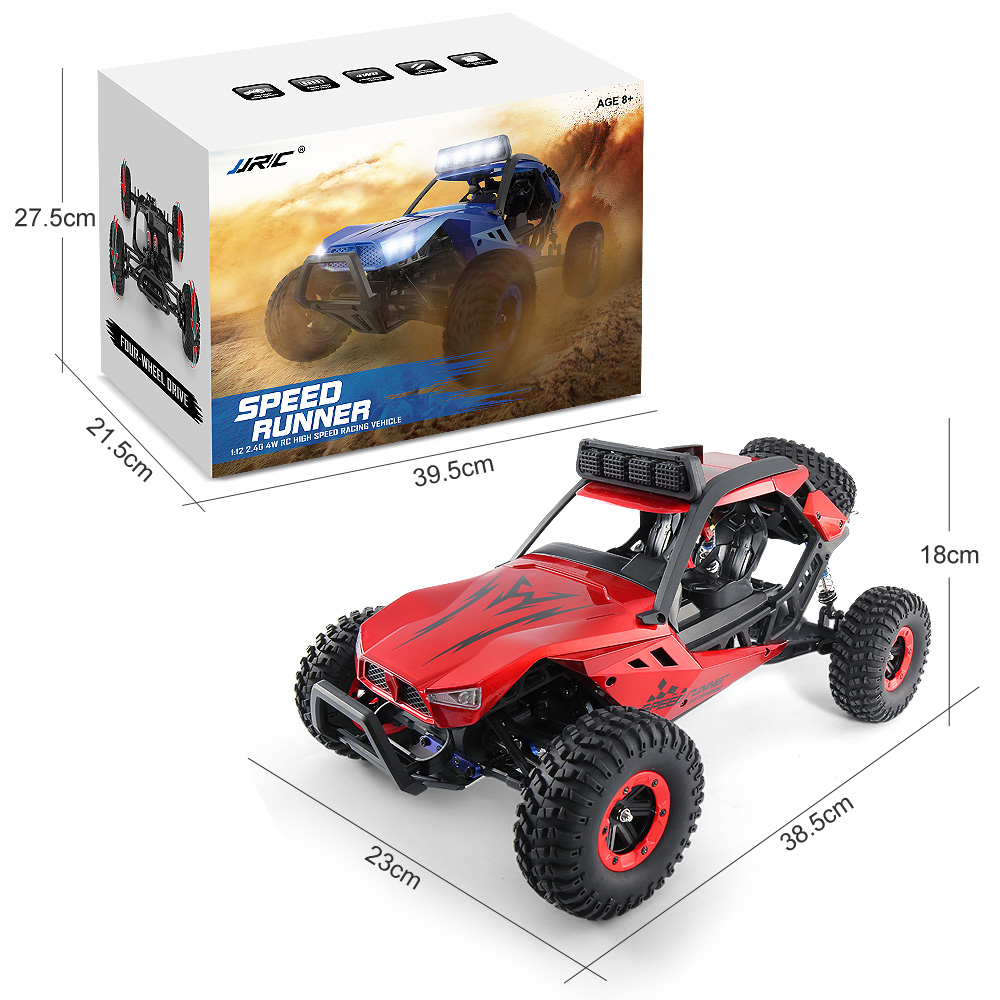 JJRC Q46 1/12 2.4G 4WD 45km/h High Speed 4CH Off Road RC Buggy Desert Truck Vehicle Crawler RTR for Kids Outdoor Toy цены онлайн