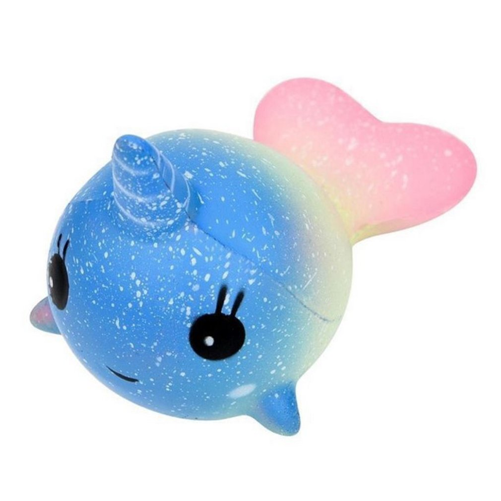 Squishy Toy Colorful Horn Whale Slow Rising Rainbow Squeeze Scented Toys Anti Stress Kids Adult Stress Reliever Toys Best Gift