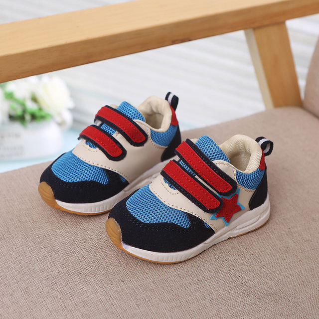 Soft sports cool baby casual shoes All seasons Patchwork high quality sneakers boys girls rubber cute newest baby casual shoes