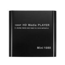 مشغل وسائط HDD صغير LEORY 1920*1080P HDMI AV USB مضيف عالي الدقة مع قارئ بطاقة SD MMC يدعم H.264 MKV AVI 100Mpbs
