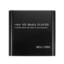 LEORY Mini HDD медиаплеер, 1920*1080P HDMI AV USB HOST Full HD с SD MMC кардридер Поддержка H.264 MKV AVI 100Mpbs