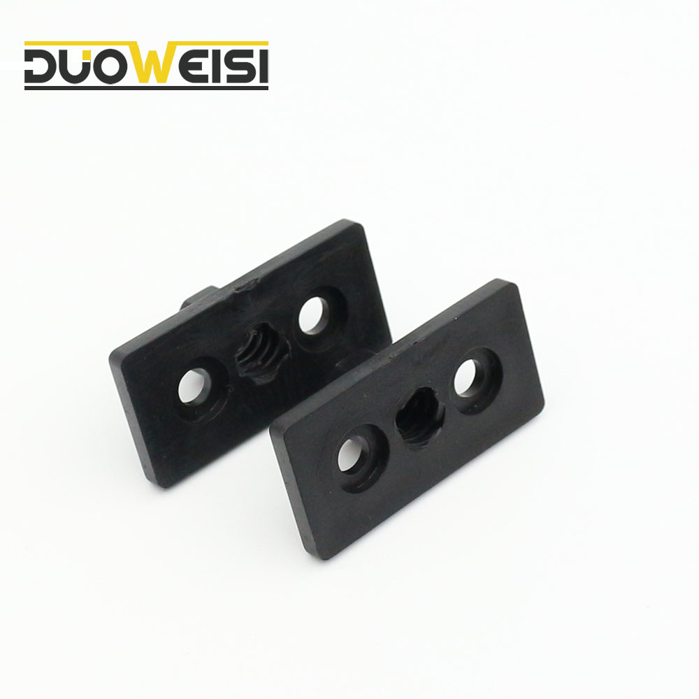 small resolution of duoweisi 3d printer t8 8mm lead 2mm pitch t thread pom black plastic nut plate for 3d printer lead 2mm 4mm 8mm choice