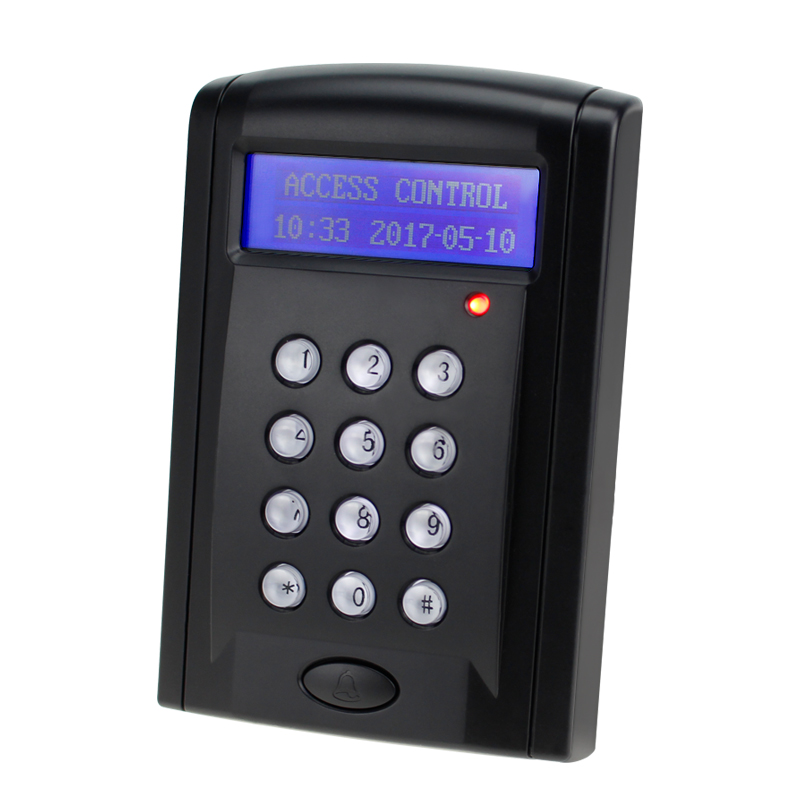 RFID 125KHz/13.56MHz Keypad Controller Single Door Entry Access Control Stand Alone RFID Reader Maker Has Data Backup Function