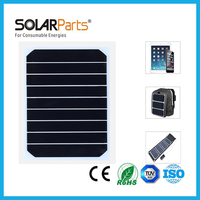 Solarparts 2pcs 5V/5W 1000mA high efficiency mono cell transparency pet solar panel solar module for charging sunpower