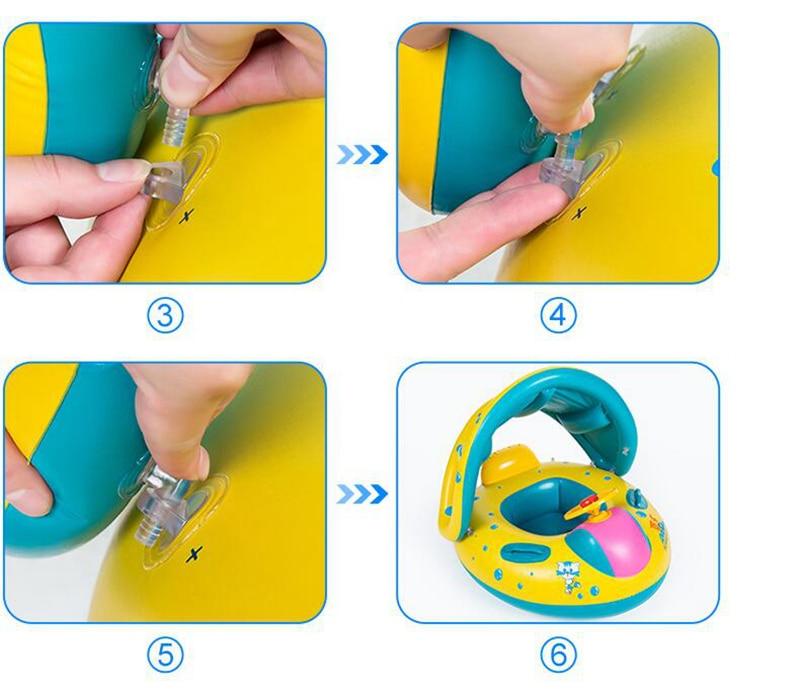 Baby Kids Summer Swimming Pool Swimming Ring Inflatable Swan Swim Float Water Fun Pool Toys Swim Ring Seat Boat Sport for 3-6Y (19)