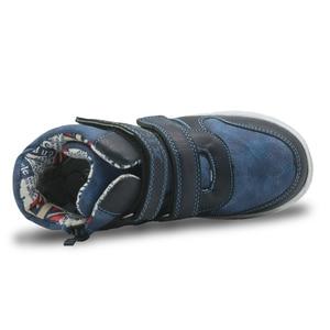 Image 5 - Apakowa outono meninos botas duplo gancho & loops crianças primavera botas com design zip para a criança crianças largas pernas terno crianças sapatos